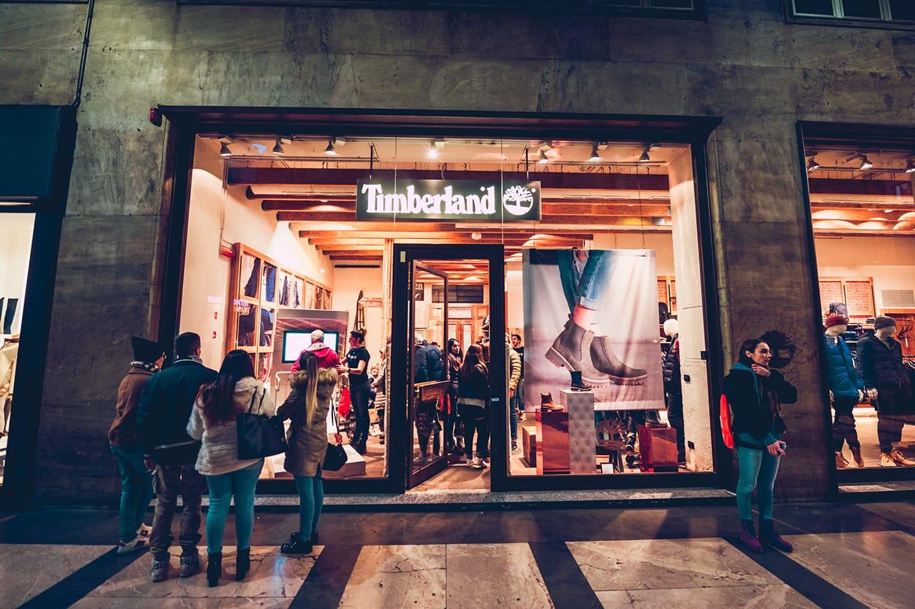 timberland store activation fall sensorflex 1